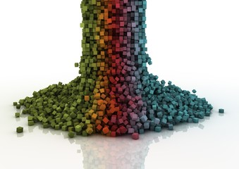 Fotobehang Pixel pixel cascade