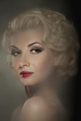 Retro woman portrait