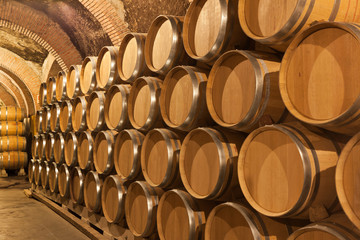 Wall Mural - Toneles de vino en la bodega