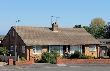 Fototapeta English bungalow houses obraz