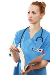 A female doctor, closeup