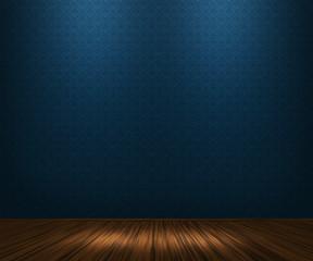 Blue Vintage Room Background