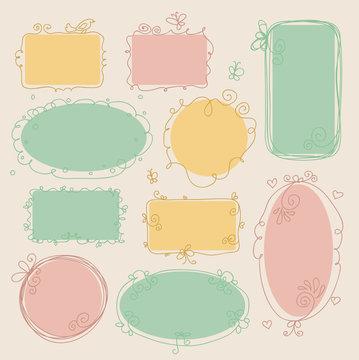 Vector illustration of vintage frames