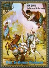 EQUATORIAL GUINEA - 1975: shows Don Quixote