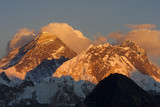 Everest at sunset from Kala Pattar, Nepal.