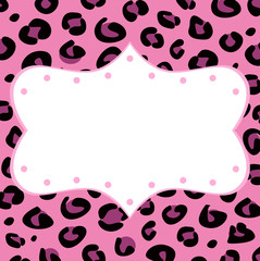 Leopard retro frame for your text