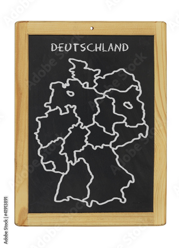deutschlandkarte mit kreide auf tafel gemalt stockfotos. Black Bedroom Furniture Sets. Home Design Ideas