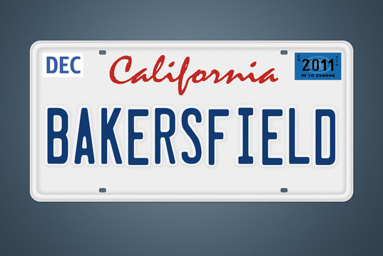 Nummernschild CA Bakersfield