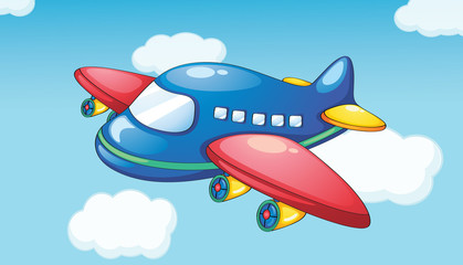 Spoed Fotobehang Vliegtuigen, ballon Plane