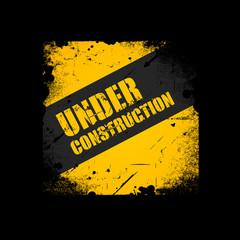 Grunge Under construction texture background, vector