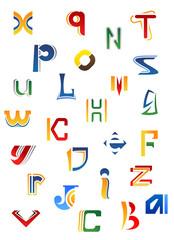 Set of decorative letters