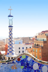 Barcelona Park Guell of Gaudi modernism