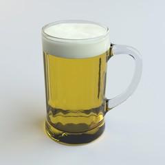 digital render of beer in a glass mug