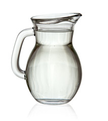 Full glass jug isolated
