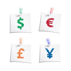 Hands draw money symbols