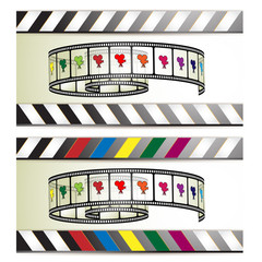 Film frames with colored camera