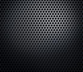 Hexagonal metal honeycomb grid