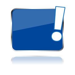 Button leer mit Rufzeichen/ Zum Beschriften