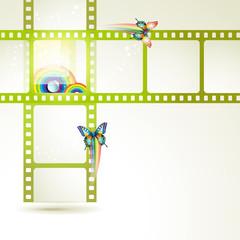 Film frames with butterflies