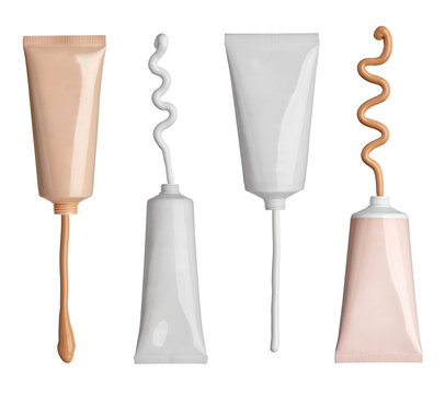 beauty hygiene cream and liquid powder tube cosmetics
