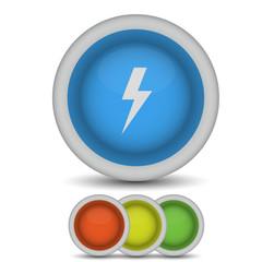 Vector lightning bolt icon on white. Eps10