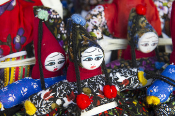 Typical puppets as Turkish souvenir