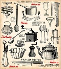 Fond de hotte en verre imprimé Affiche vintage Cuisine