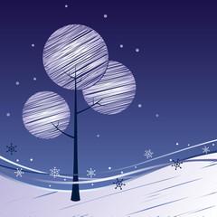 Winter background New Year
