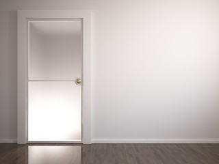 door on the wall