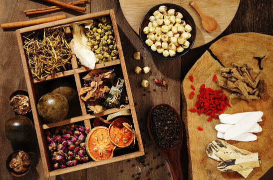 Chinese herbal medicine and flower tea