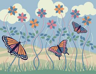 Keuken foto achterwand Vlinders Monarch Morning