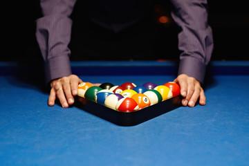 Hands on billiard balls