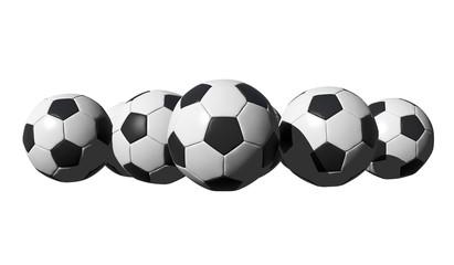 3D rendered soccer balls