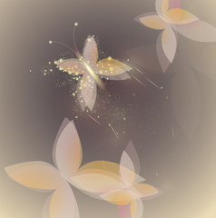 Sweet shinning butterfly / Fairy background