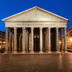 Fototapete - Pantheon  at night in Rome - Italy