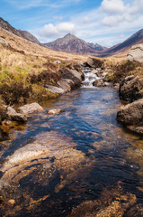Mountain stream at Glen Rosa on the Isle of Arran, Scotland