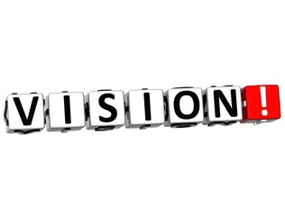 3D Vision Button Click Here Block Text