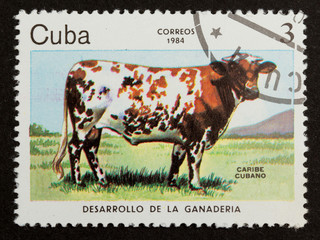 CUBA - 1984: Stamp printed in Cuba