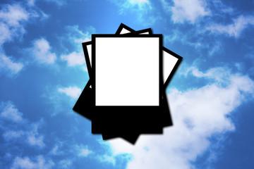 Polaroid sky frame