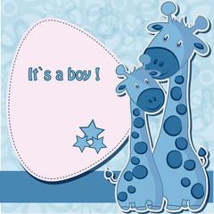 Fond de hotte en verre imprimé Hibou Baby shower card