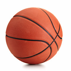 Foto op Canvas Bol Basketball ball over white background