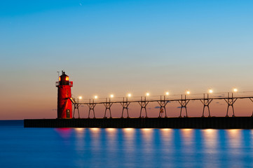 Fototapete - South Haven Lighthouse.