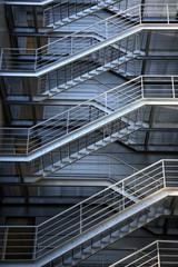 evacuation metalic stairs