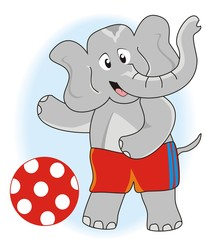 Elelphant and ball
