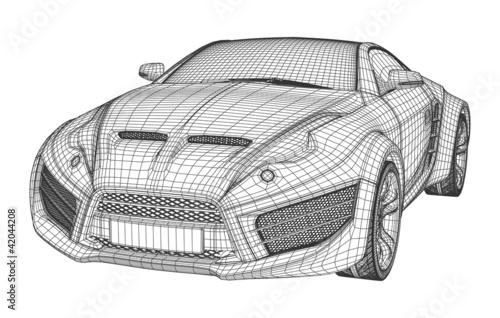 Sports car blueprint non branded concept car imgenes de archivo sports car blueprint non branded concept car malvernweather Choice Image