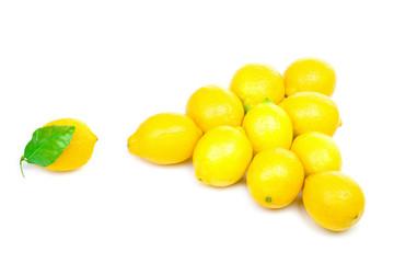 Billiards pyramid from lemons