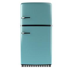 Retro fridge front view