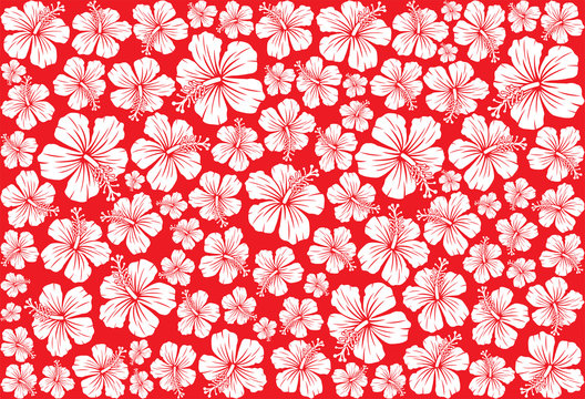 Seamless floral pattern whit hibiscus