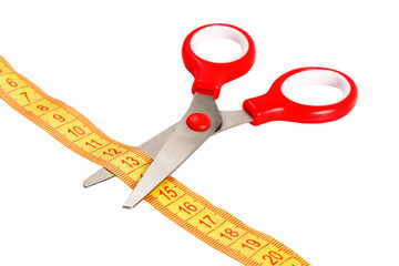scissors and tape measuring