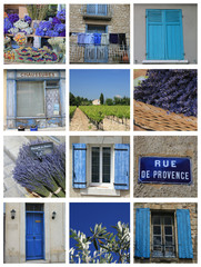 Bleu de Provence collage